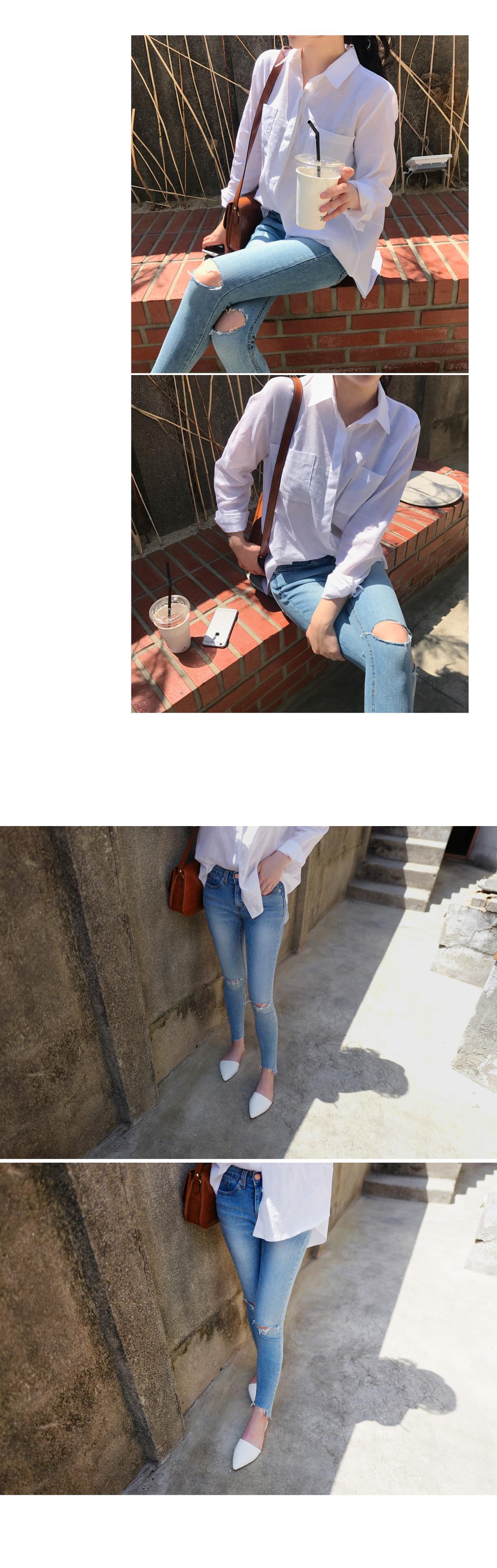 Kai incision skinny jeans
