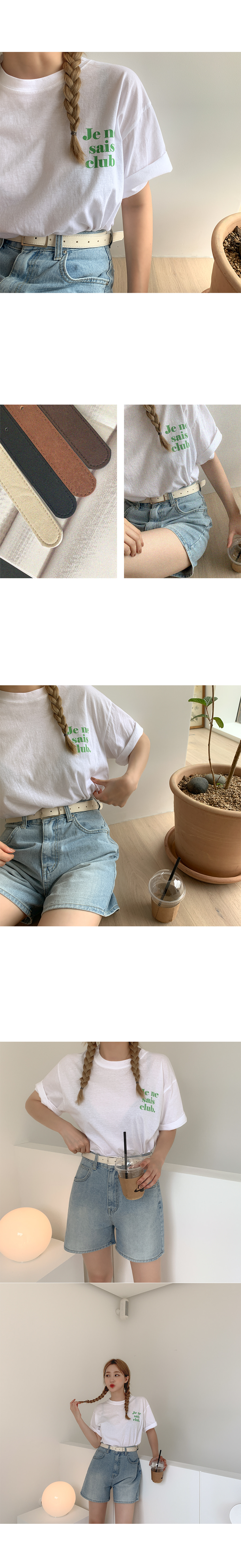 Click Lettering Cotton Short Sleeve Tee