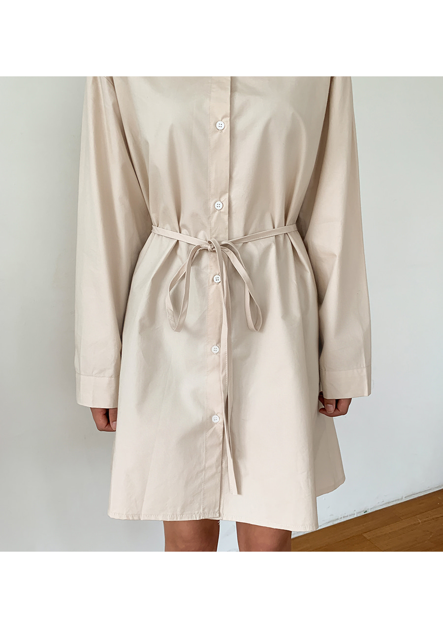 String shirt dress
