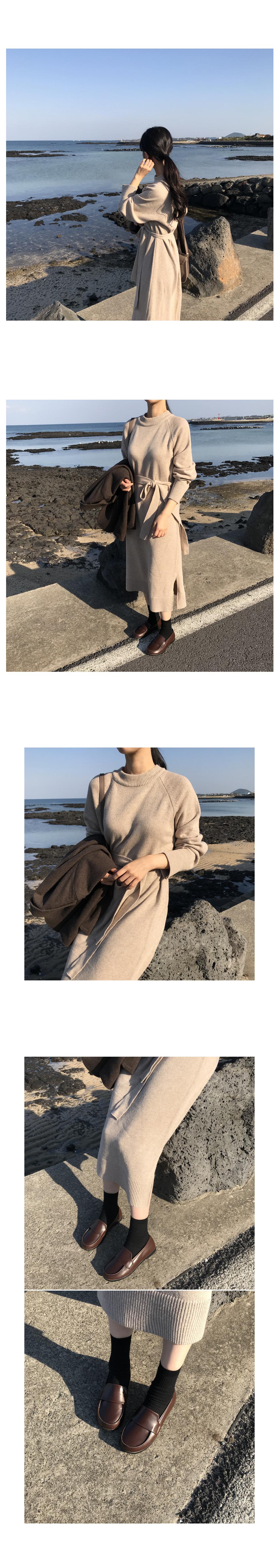 Cookie Knit Long Dress