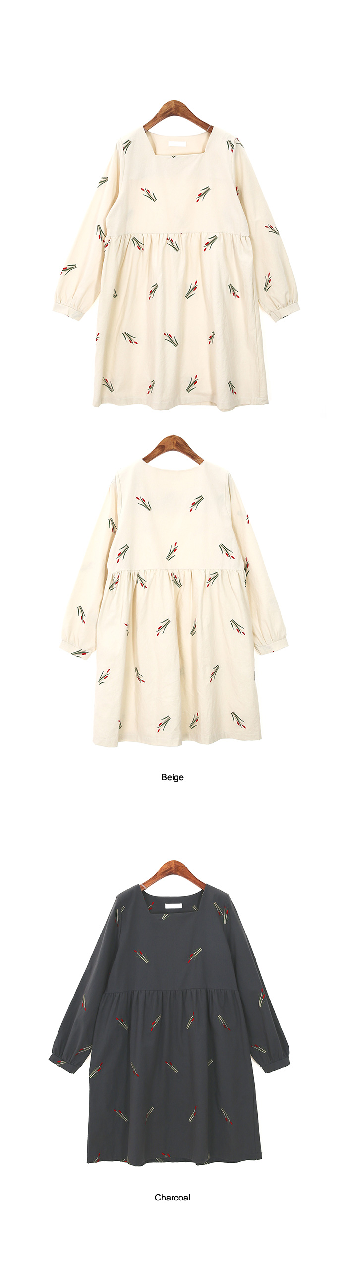 Tulip Embroidery Dress