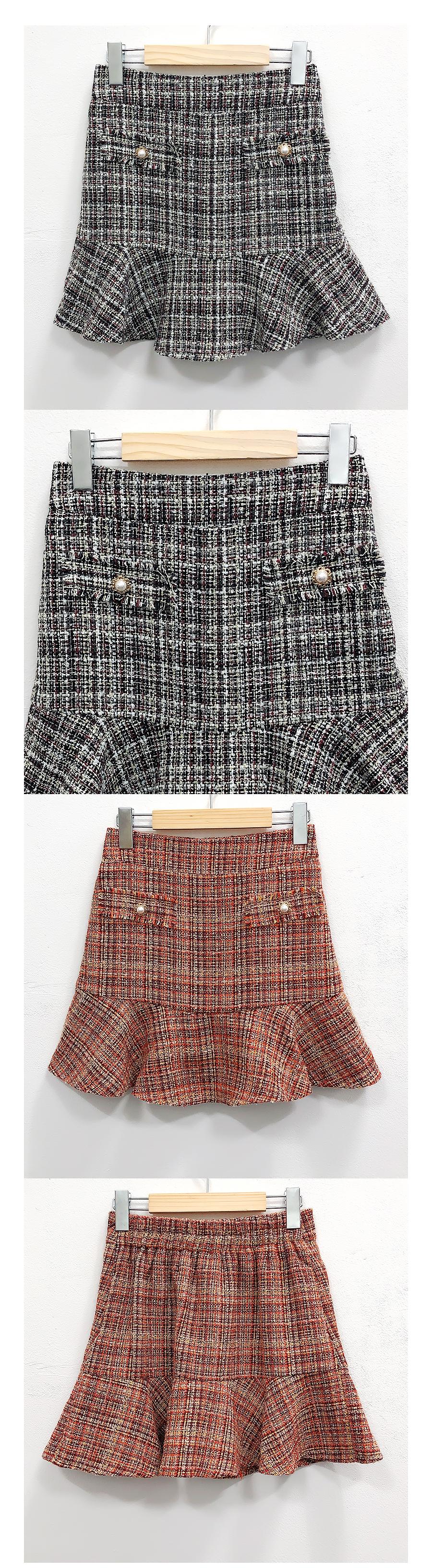 Bring tweed skirt pants