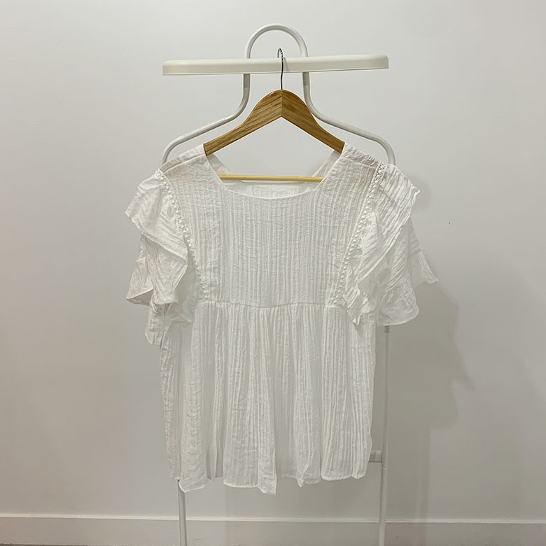 Iliana ruffle embroidered blouse
