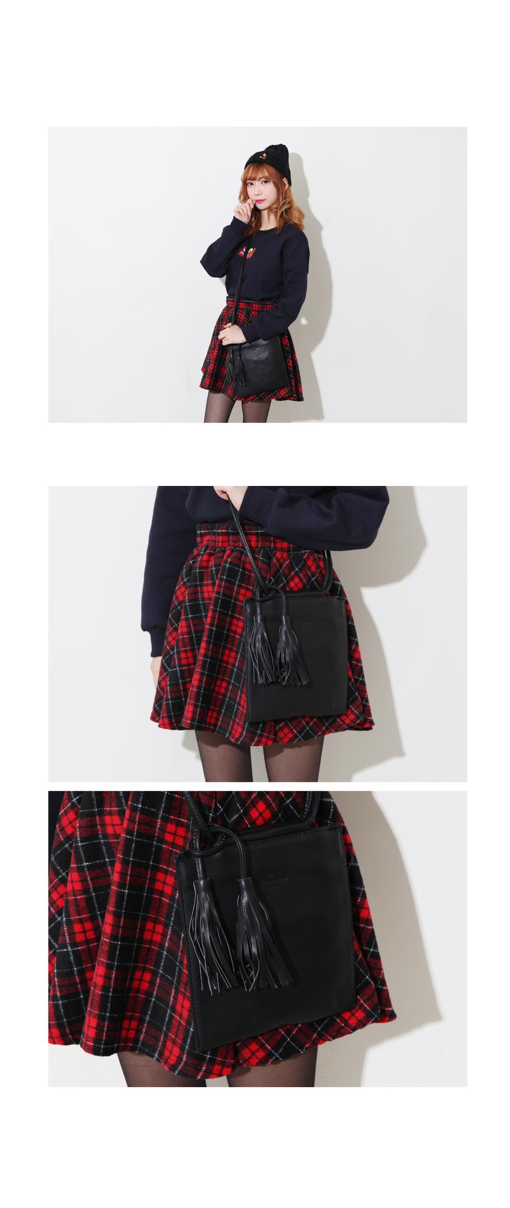 Uni-square tassel cross bag