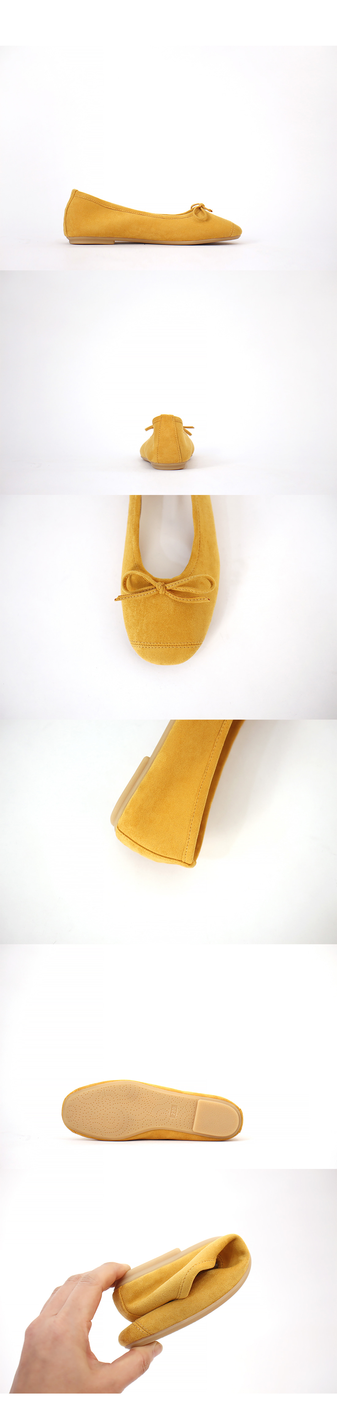 Suede stitch ribbon Flat