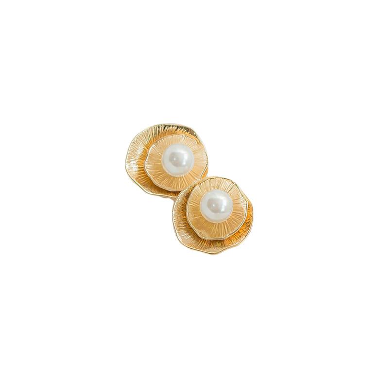 Rococo Pearl Flower Earrings