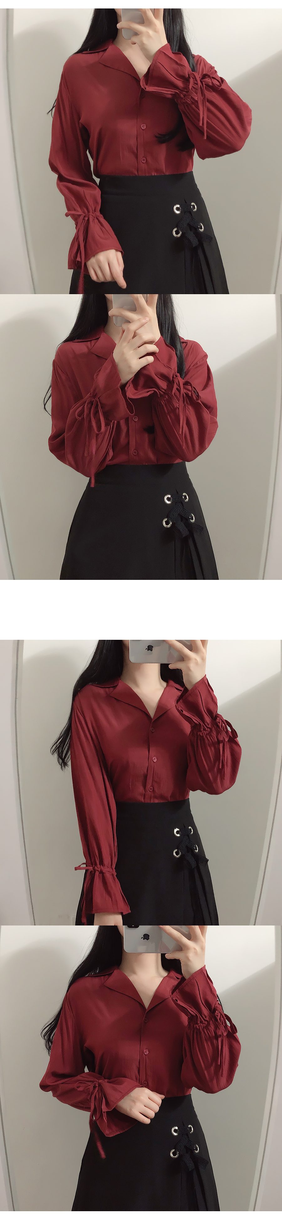 ♥ Brick collar blouse