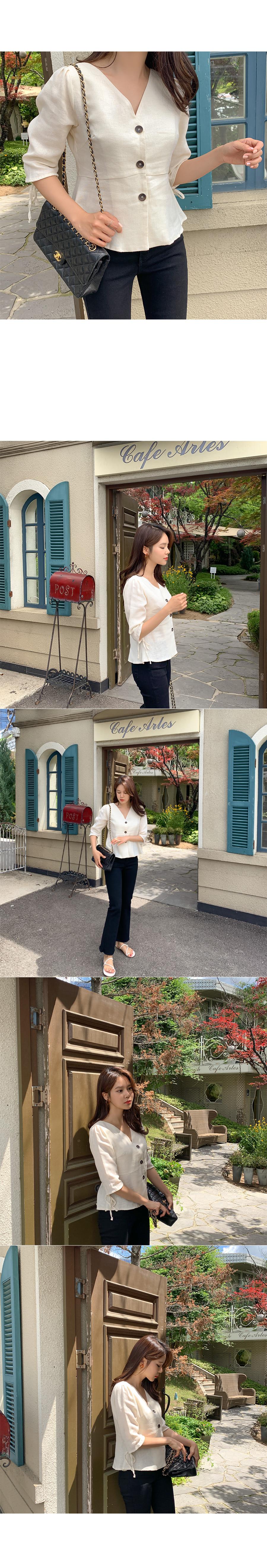 Mills herringbone blouse