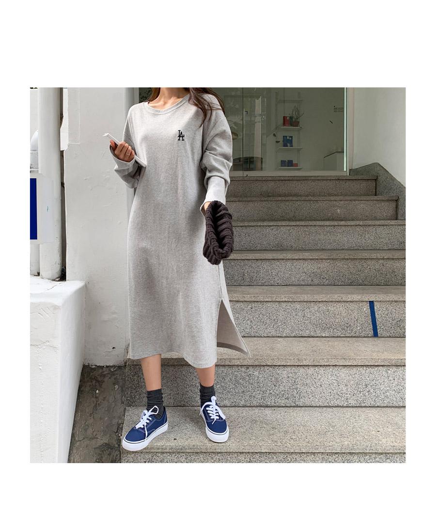Mono LA embroidery long dress