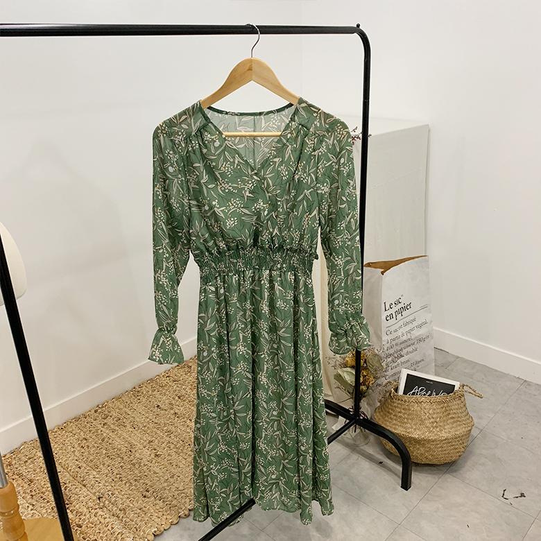 Marang Flower V Long Dress