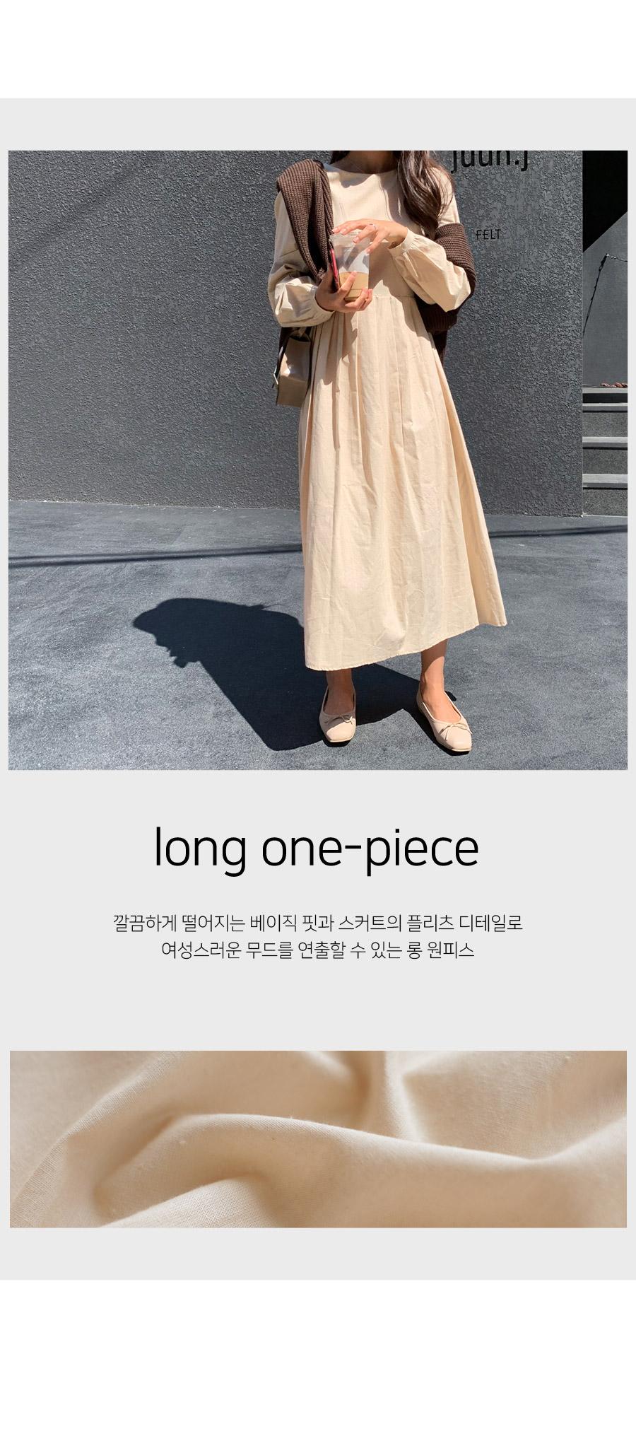 Lodge Half Pleated Long Dress
