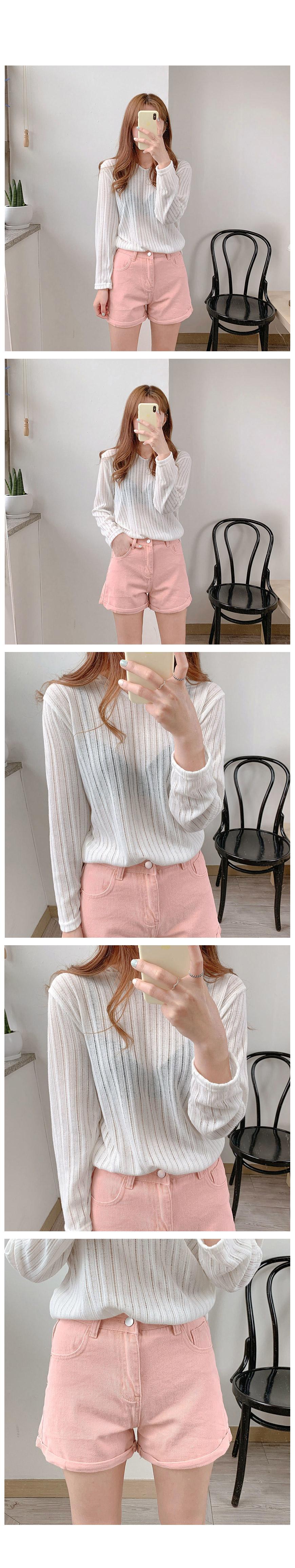 Ribbed Summer Hood knit-2color
