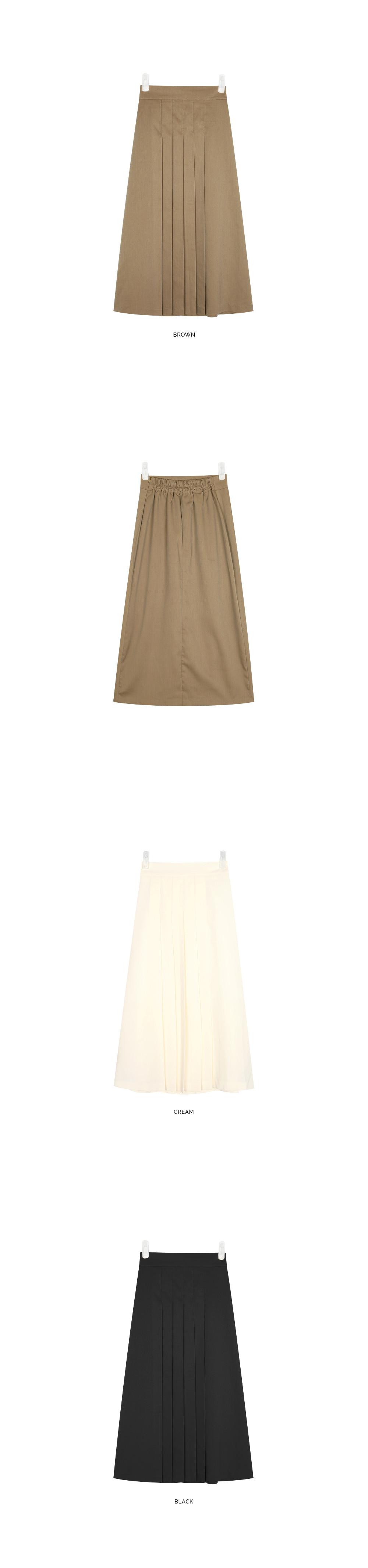 butter pleats skirt