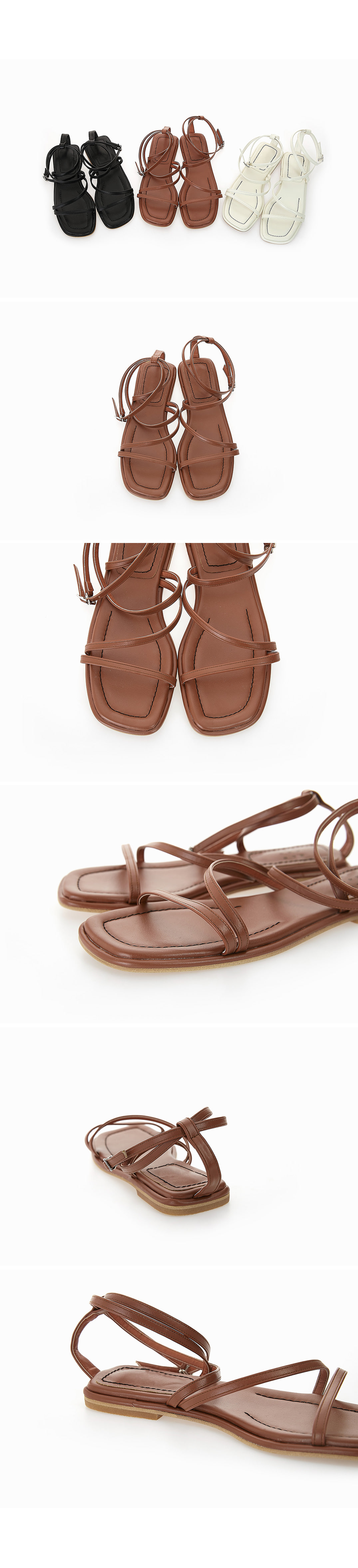 Zebra strap sandals