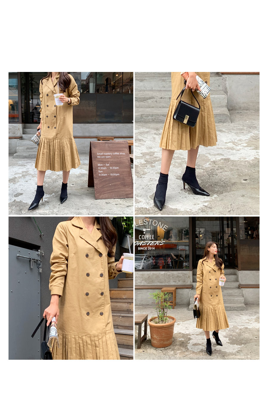 More trench pleated long dress