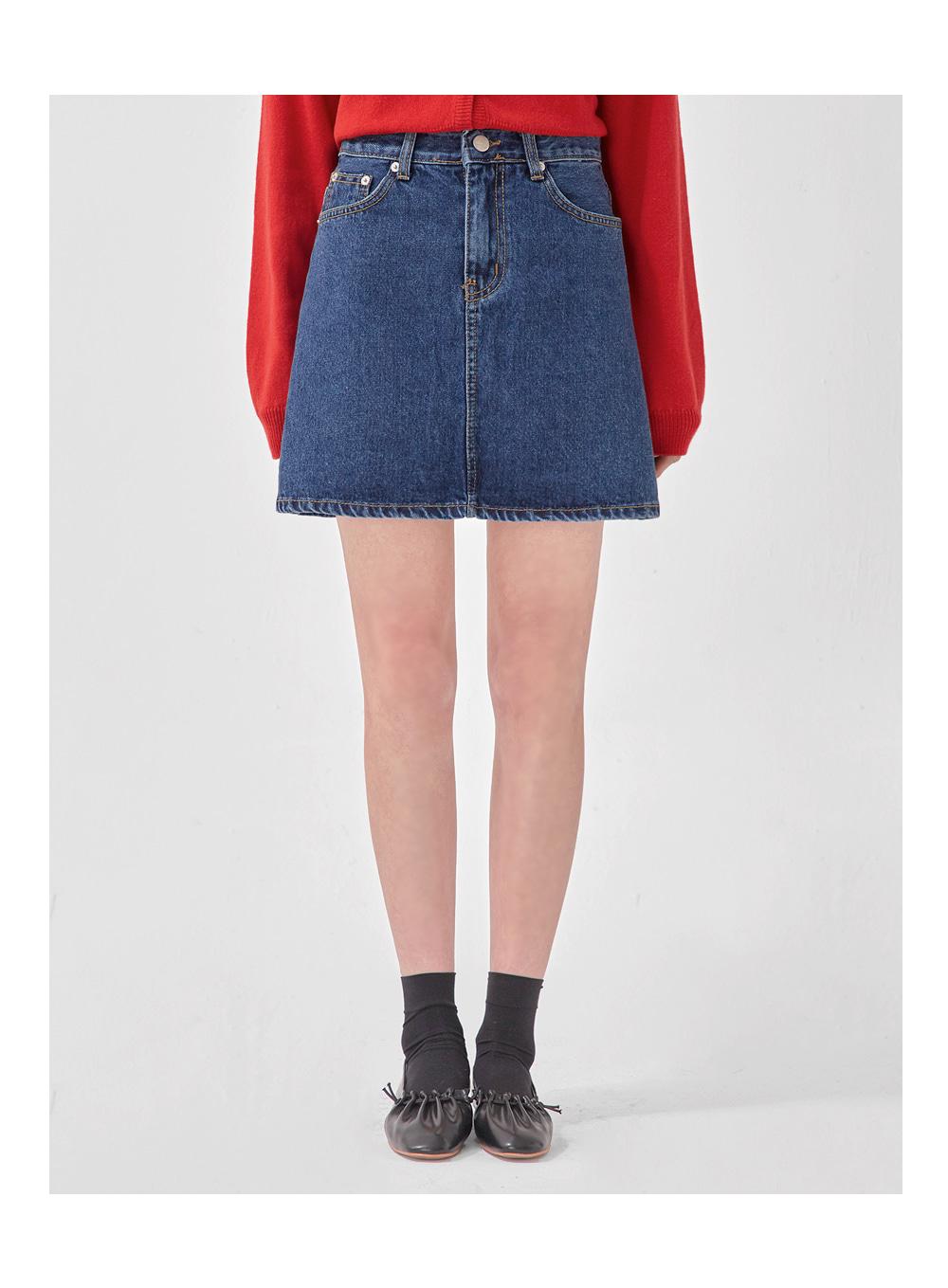 just denim mini skirt