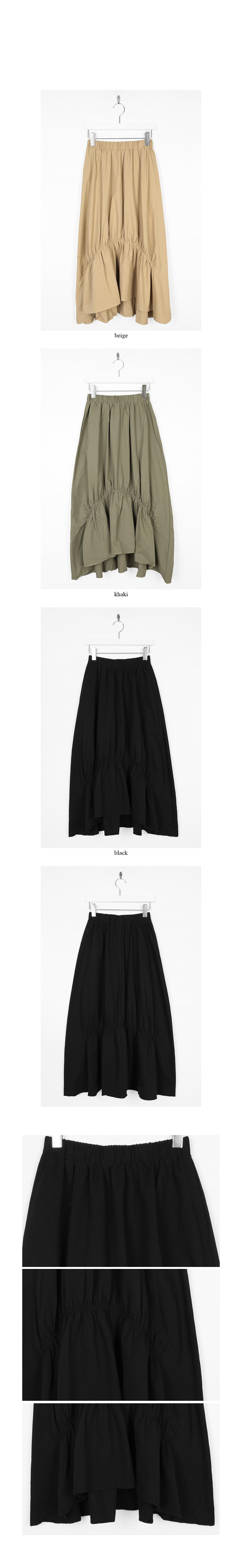 shirring crease nature skirts