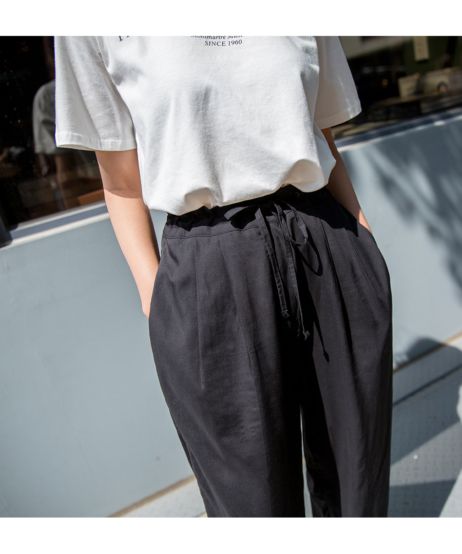 Waist strap Wide pants