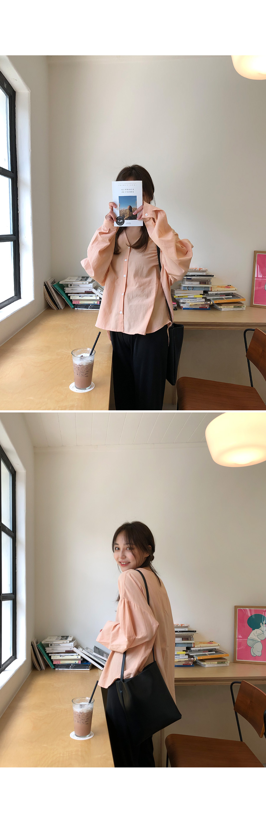 Peach v neck blouse