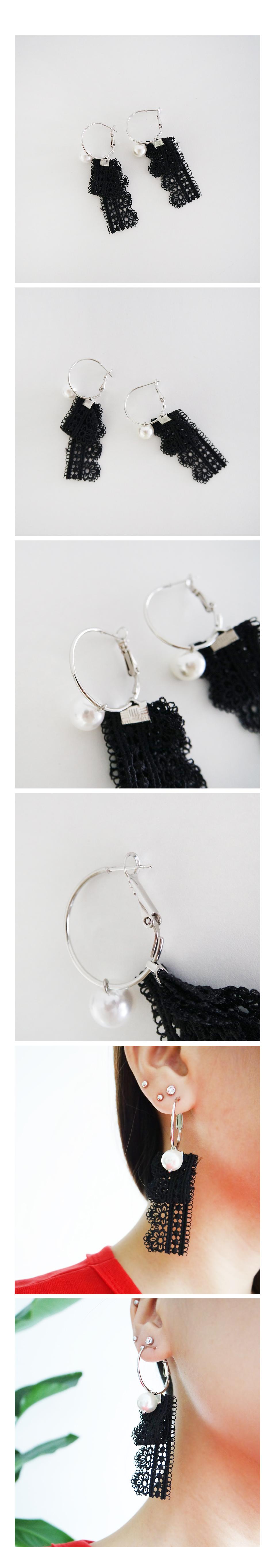 Pearl Black Lace E