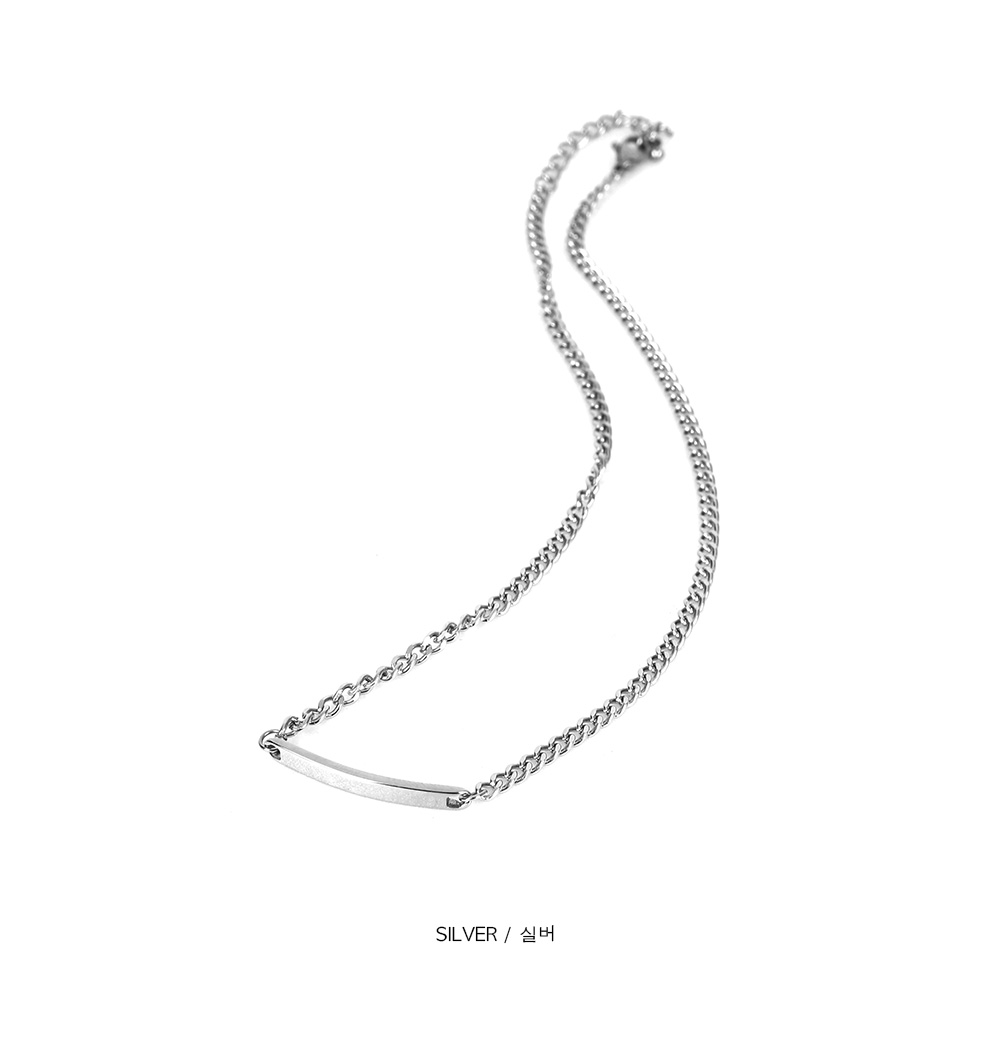 stick chain silver necklace