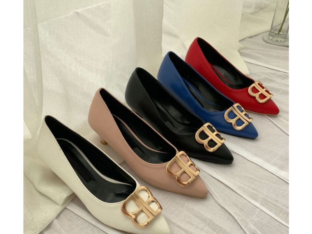 BB embellished middle heel pumps_ss03360
