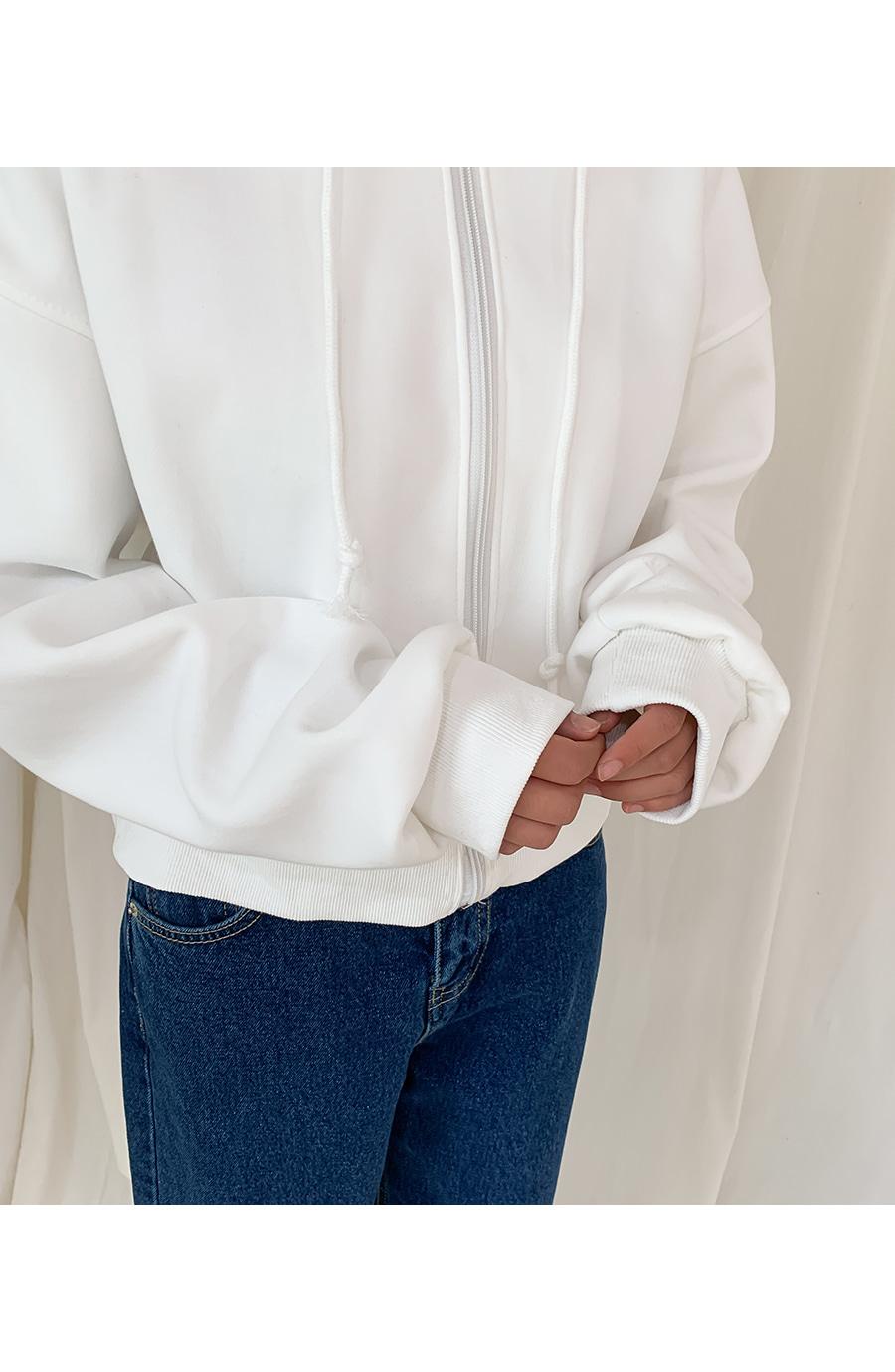 Basic Short Hooded Zip-up