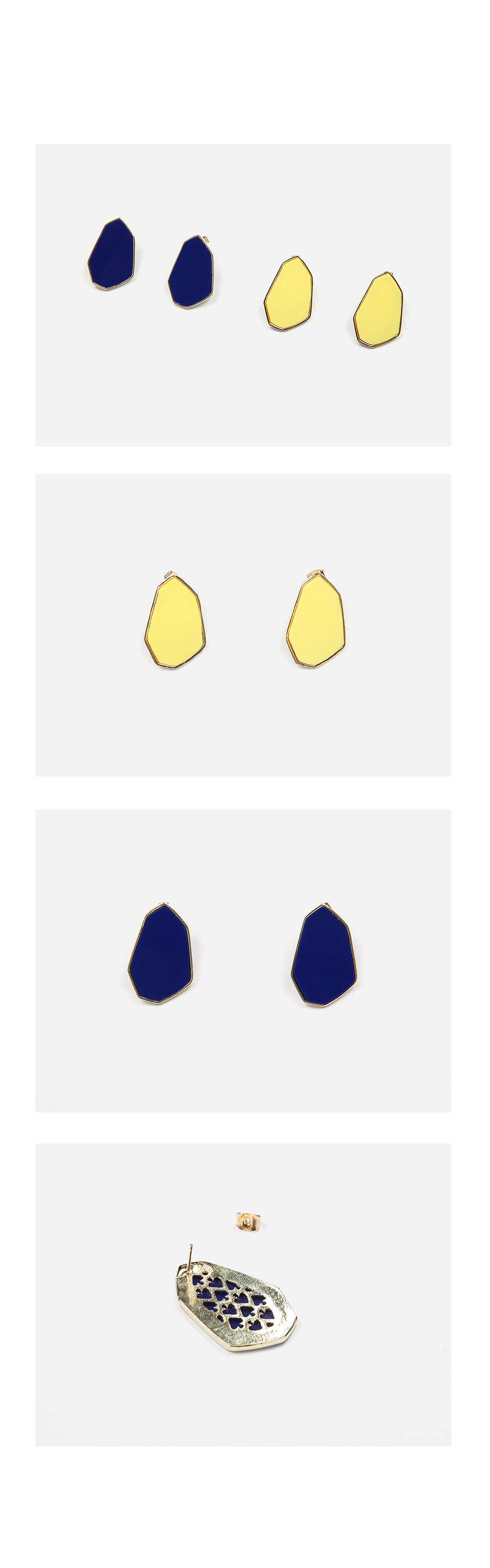 fragment colorful earring (2 colors)