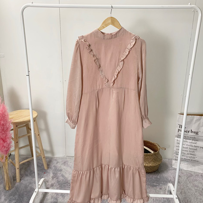 Ryizen Romantic Frill Long Dress