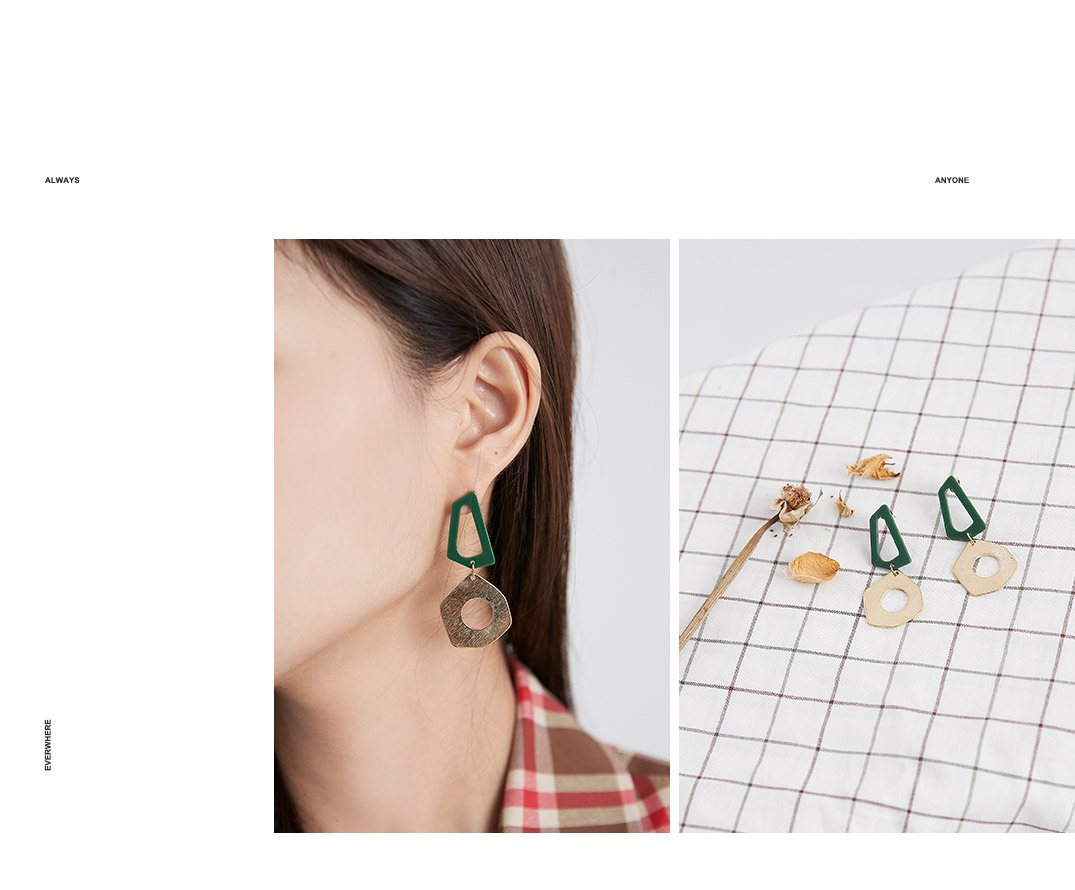 Acrylic shape earrings