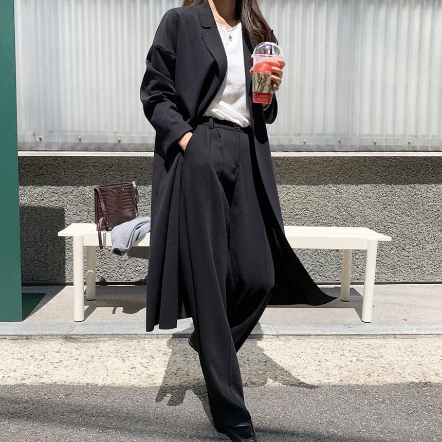 Mild natural long jacket