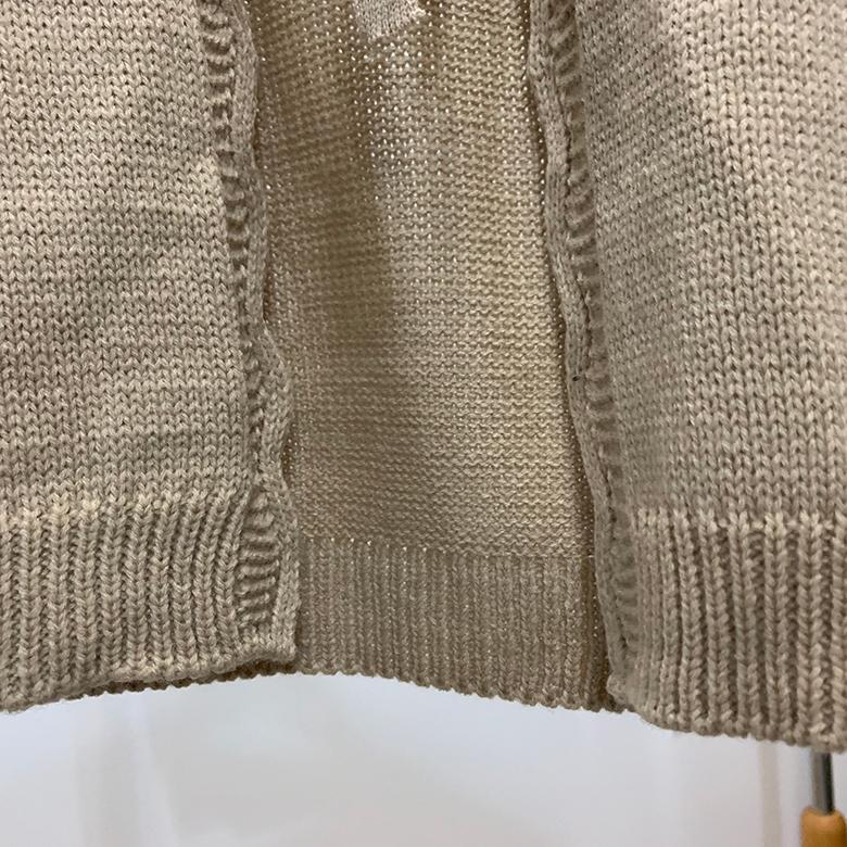 Almond Ribbon Wavy Line Cardigan