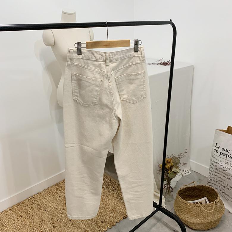 Deli Straight Cream Pants