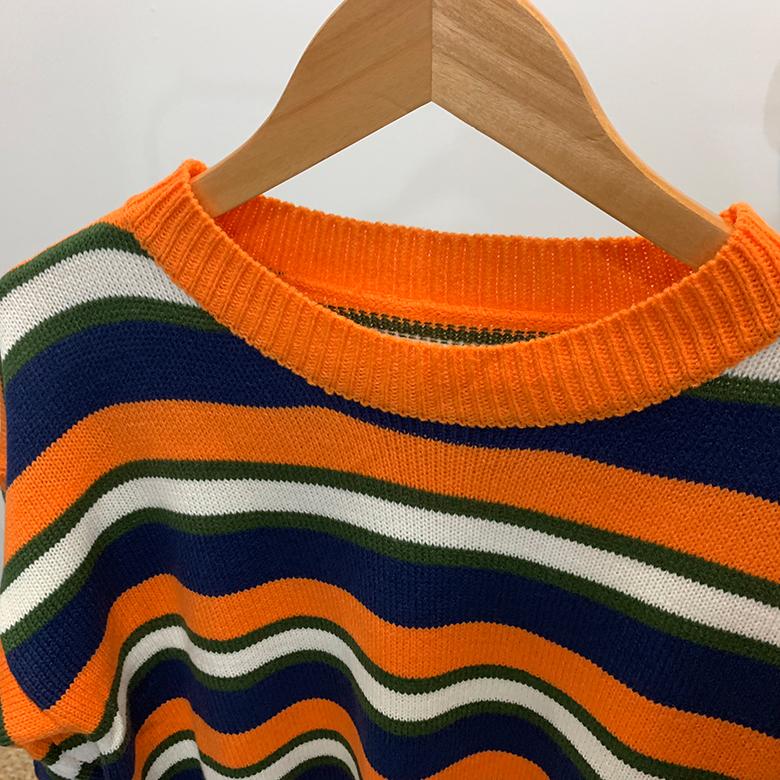 Pretchen striped hatch knit