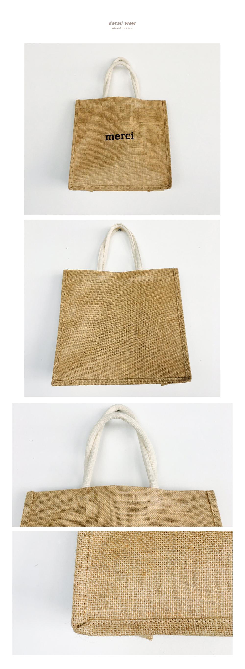 Linen Merci Bag