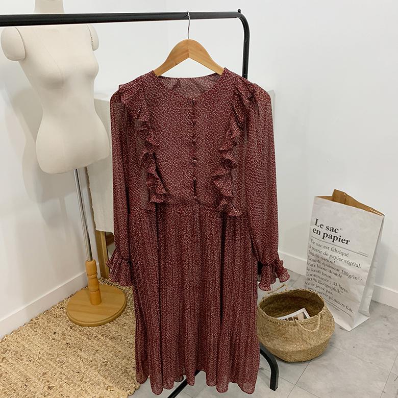 Bohemian Flower Pleated Dress