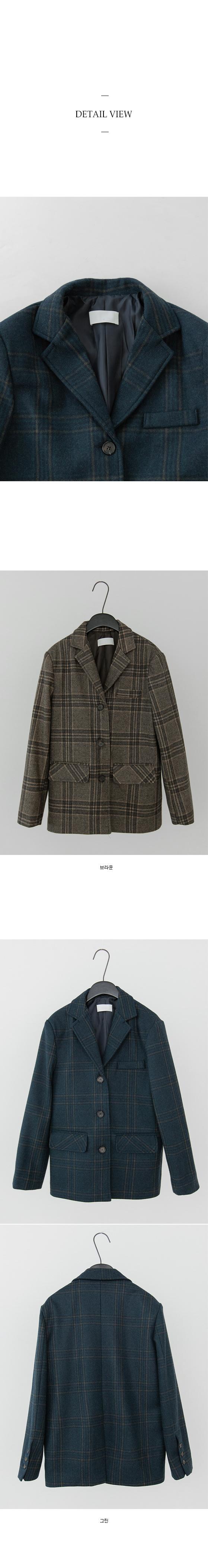 mild check wearable jacket