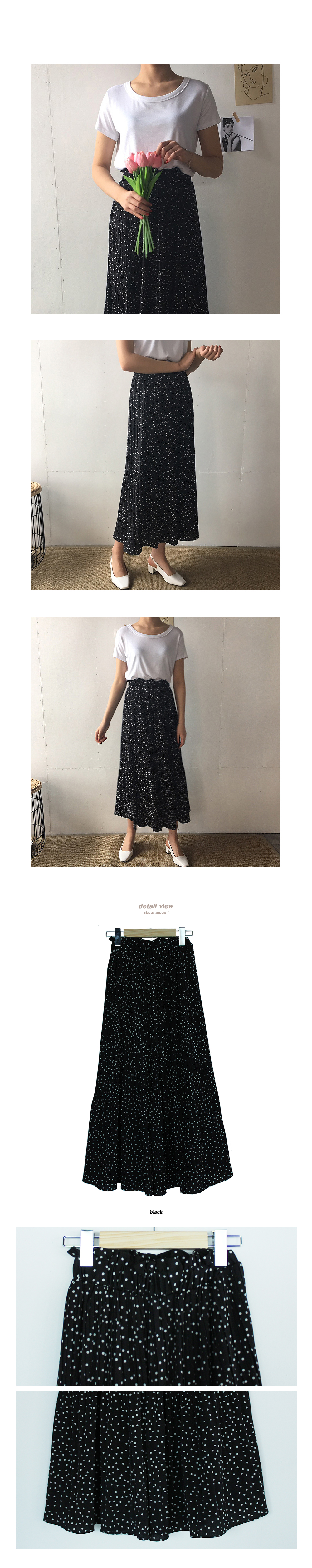 Dot Long Skirt - 1color
