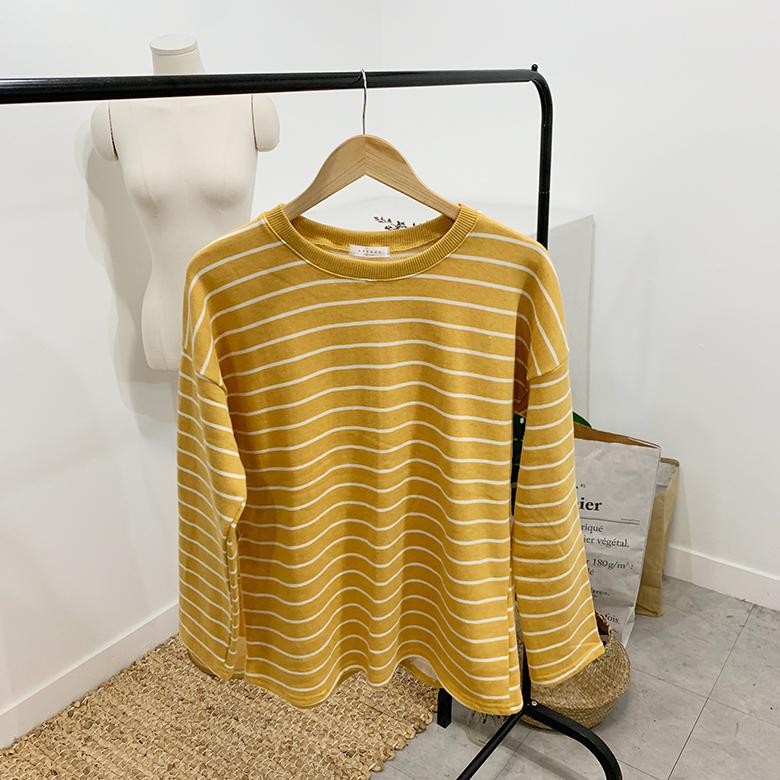 Cheese Stripe Round T-Shirt