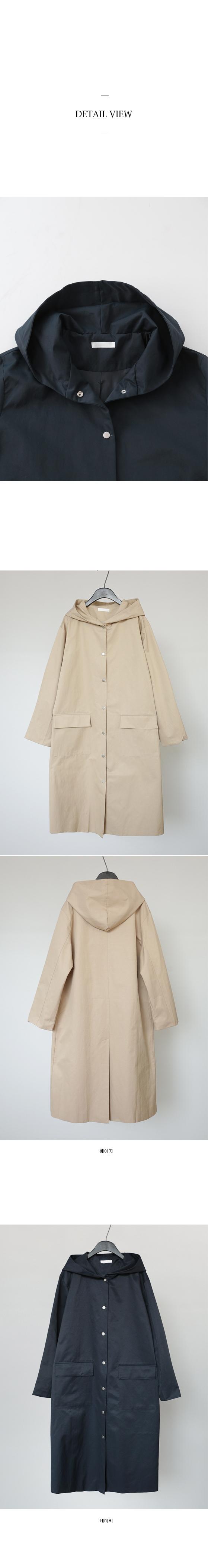 front pocket hood trench coat