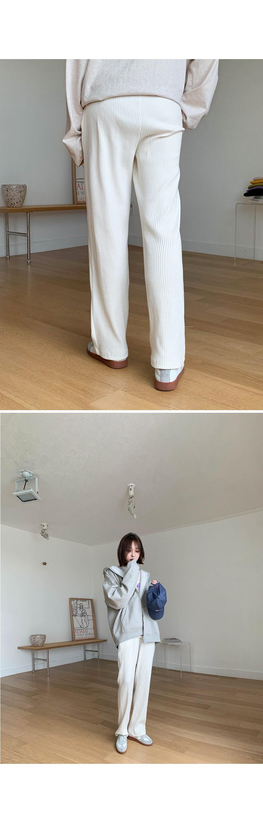 Ribbed-knit training pants