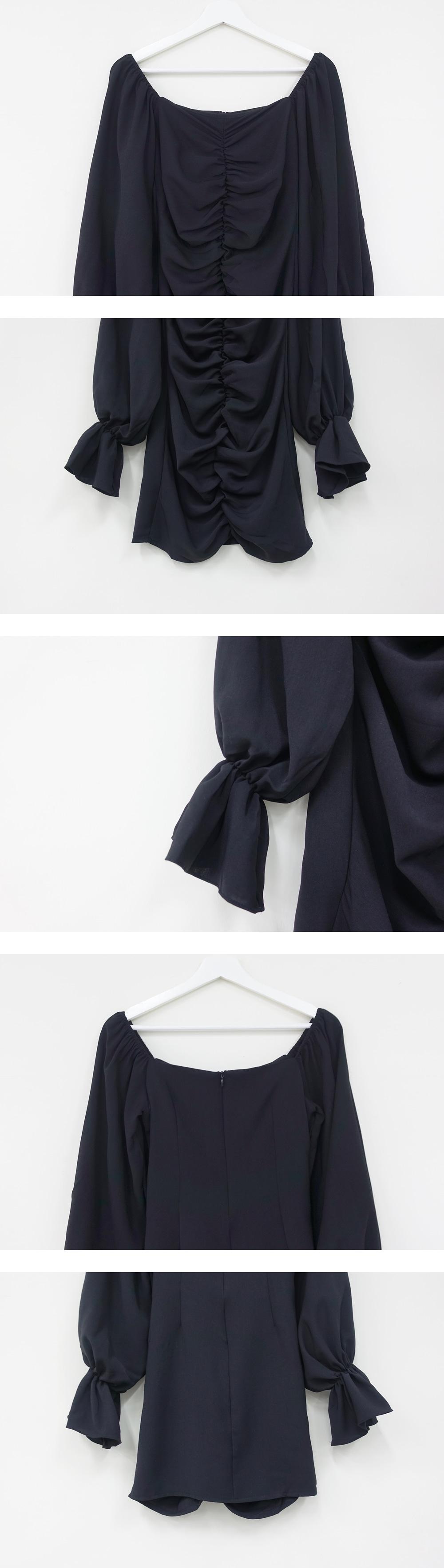 Puff Shirring Mini Dress