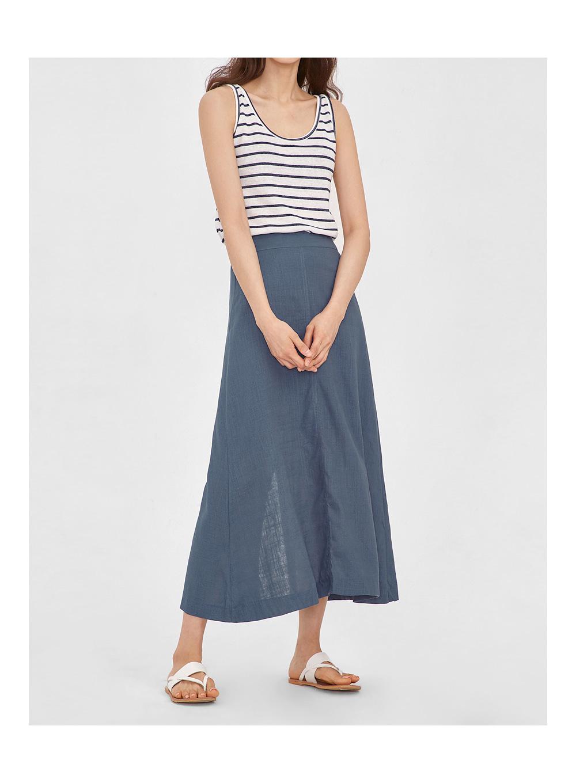 jane linen long skirt