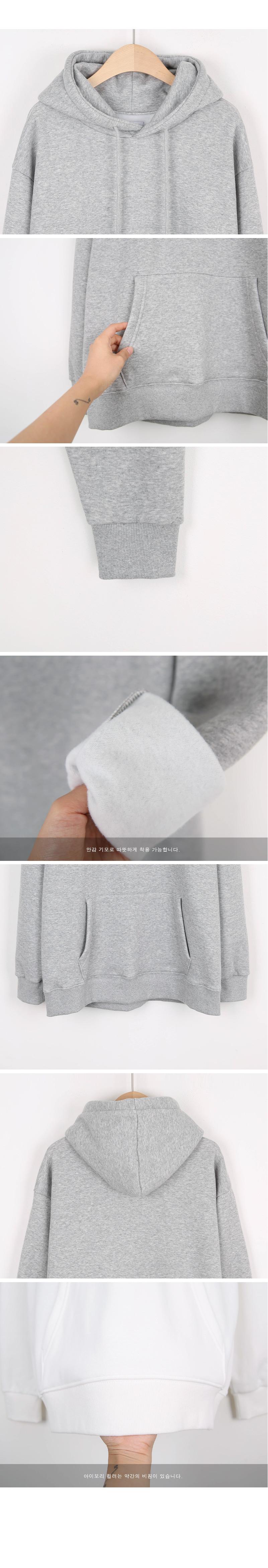 Brushed hoodies