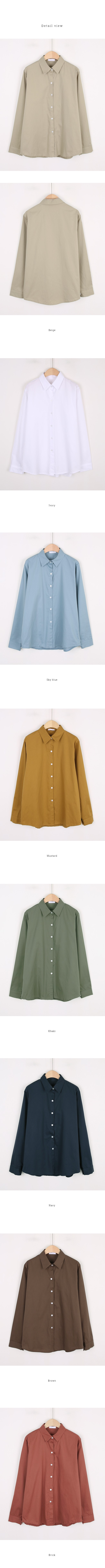 Mani color cotton shirt