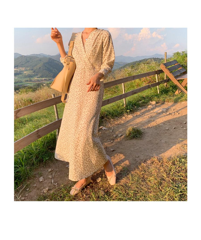 Ridge Flower Long Dress