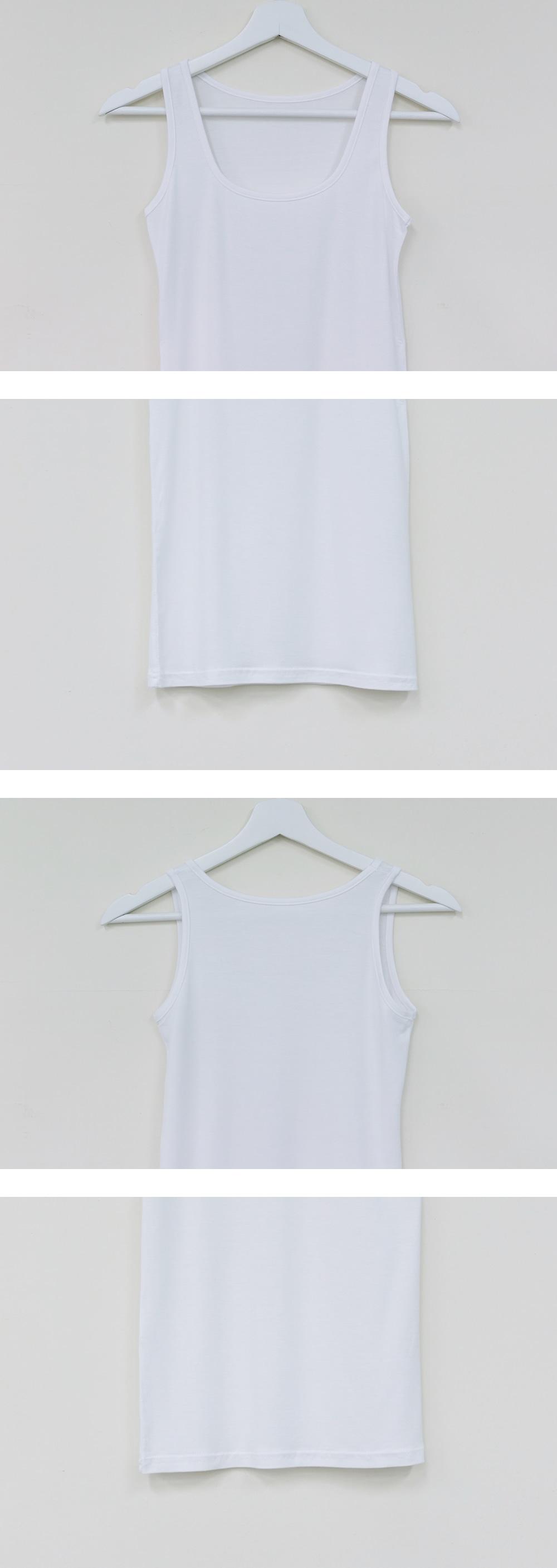 Basic U neck sleeveless
