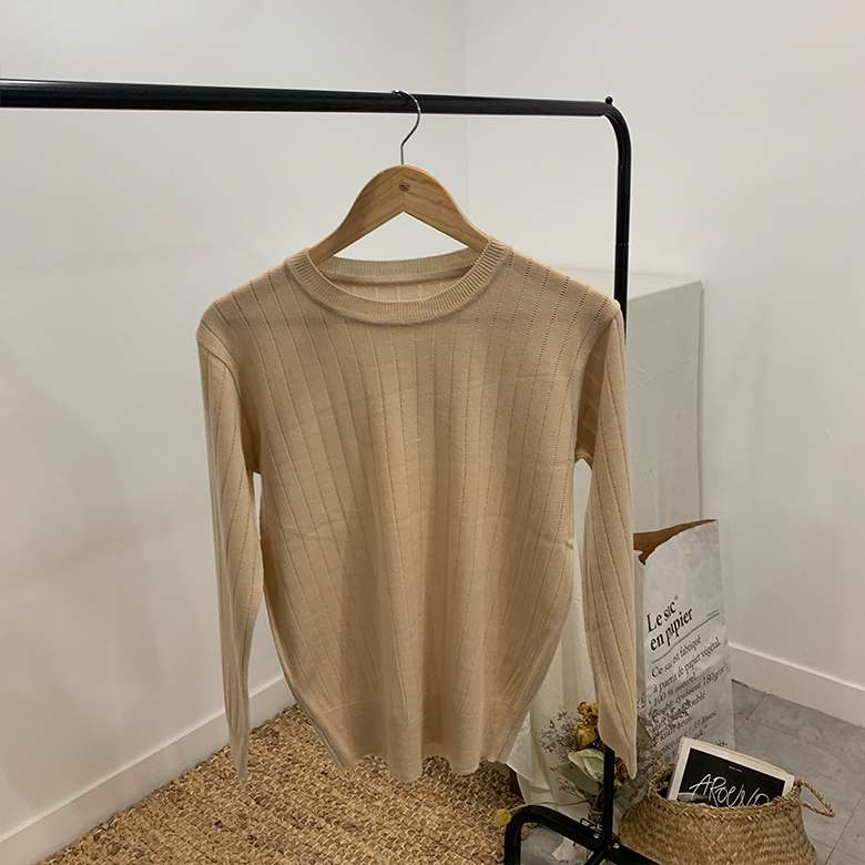 Jericho punched ribbed round knit