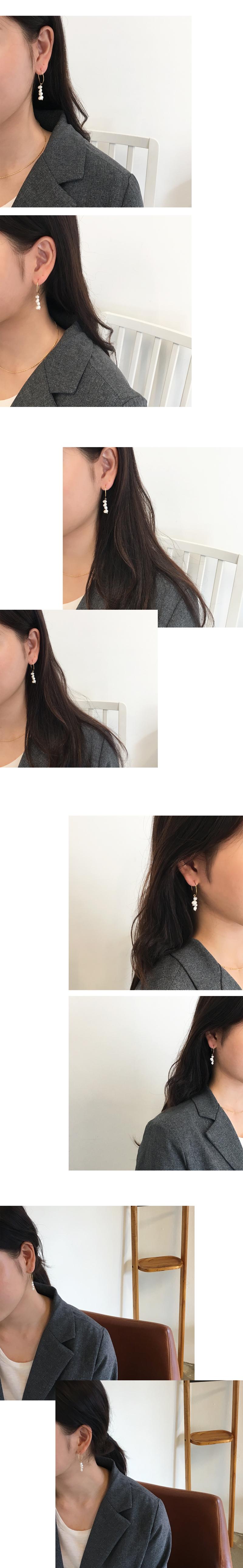milky earring
