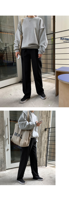Loose-fit Pintuck Slacks